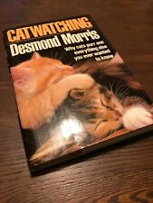 Catwatching-Desmond Morris-Cat Watching-1986 First Edition Hardcover Book