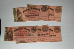 Hydeville, VT- Hydeville Company 5¢; 10¢; 15¢; 25¢; 50¢ Oct. 1, 1862 Remainders