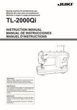 Juki TL-2000QI Sewing Machine Instructions User Guide Manual Reprint