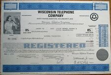 Wisconsin Bell Telephone Company 1976 Stock/Bond Certificate - Wi Wis