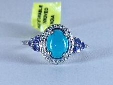 Size 5 Arizona Sleeping Beauty Turquoise & Tanzanite Sterling Silver Ring
