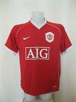 Manchester United 2006/2007 Home Sz M Nike football shirt jersey soccer maillot