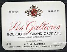 Etiquette de Vin -Bourgogne - Les Galtieres - New - Never Stuck - Réf.n°61