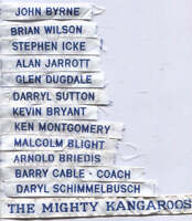 AFL NORTH MELBOURNE  FOOTBALL CLUB    DUFFLE COAT NAME TAGS    Number 2 List