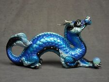 Windstone Editions * Blue Morpho Oriental Dragon * Fantasy Figurine Magic Statue