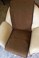 Sesselschoner in Wellenoptik schokobraun 50x200 cm, Überwurf, 100%Wolle