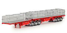 Drake Collectibles ZT09259 1/50 MAXITRANS B Double Flat Top Diecast Trailer (red