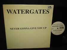 """Watergates """"Never Gonna Give You Up"""" 12"""" 45 Single UK PRESS"""