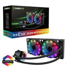Game Max Ice Chill 240mm ARGB LED AIO Water Cooler CPU Liquid Cooling System Kit