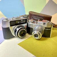 Bencini Comet And Regula Vintage Film Cameras Working With Defects, Lomo
