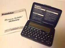 Vintage Franklin Mwd-400 Merriam Webster Pocket Electronic Dictionary W/ Manual