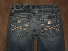 Aeropostale Size 0 Short Chelsea Boot Cut Curvy Light Blue Flap Pocket Jeans