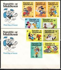 Maldives, Scott cat. 826-834. Year of the Child, Disney.. 2 First day covers.