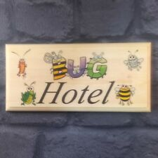 Bug Hotel - Plaque / Sign / Gift - Garden Shed Boys Bumblebee Cottage  497