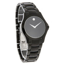 Movado Military Mens Black Dial Swiss Quartz Dress Watch 0606486