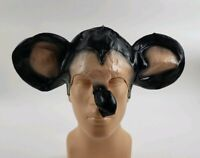 Vintage Rubber  Mickey Mouse Halloween ADULT 1/2 Mask 1970S  COSTUME