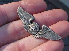 "ORIGINAL WWII USAAF 2"" SHIRT SIZE NAVIGATOR WINGS - STERLING PINBACK"