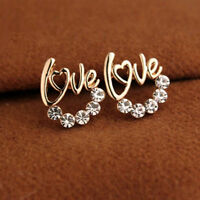 1 Pair Women Lady Elegant Crystal Rhinestone Ear Stud Earrings New Fashion