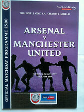 MINT 1999 Charity Shield Arsenal v Manchester United