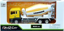 MAN CONCRETE MIXER TRUCK 1:64 Lorry Metal Model Cement Miniature Die Cast