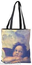 Tasche Umhängen Bag Shopper Damen beige Kunst braun Raffael: Engel 4105
