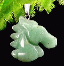 Beautiful unique horse Aventurine pendant bead BA1433