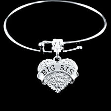 Big sis Bracelet Big sister jewelry crystal heart style best jewelry gift