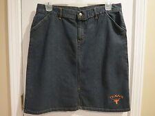 Red Oak Sportwear Texas Dark Wash Blue Denim Short Straight Jean Skirt, Size L