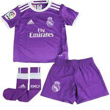 701a426241c adidas Childrens Kids Football Soccer Real Madrid Away Mini Kit 2016-17 3-4