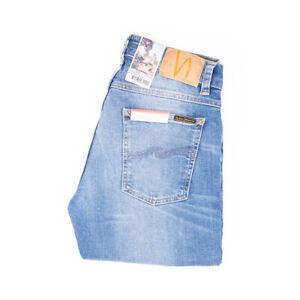 Nudie Jeans, Tight Terry, Summer Dust, Hellblau, 113270, Tight Anti Fit, Neu