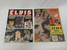 Lot of 2 Elvis Magazines 1960 The King Returns & 1979 Second Memorial Issue