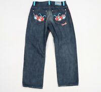 Vintage Coogi Mens 36x34 Spell Out Bee Thick Stitch Baggy Hip Hop Denim Jeans