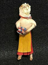 Gorgeous Female Goat German Cotton Vintage Christmas Ornament