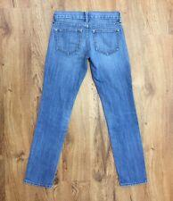 Old Navy Diva Distressed Blue Jeans Comfort Stretch Denim Womens Size 0 Reg