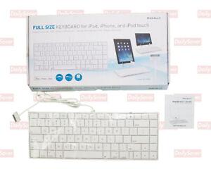 NEW Macally Full Size Keyboard iKey 3011 ipad iphone ipod touch Apple Mac 2013