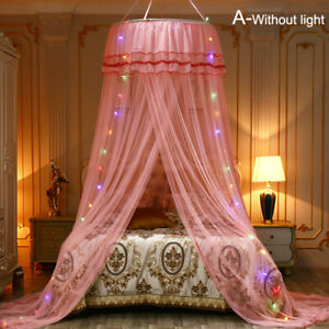 Home Double Bed Repellent Mosquito Nets Round Canopy Bed Tent Bed Curtain US