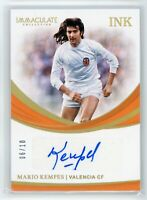 2018-19 MARIO KEMPES 06/10 AUTO PANINI IMMACULATE COLLECTION INK AUTOGRAPHS