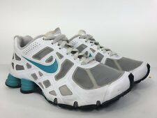 a49de79478a8f1 Nike Shox Turbo Mens Size 7Y Running Shoes 454371-005 2012 White Teal