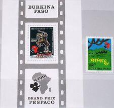 BURKINA FASO 1991 1246 Block 135 907-08 African Film Movie Festival FESPACO MNH