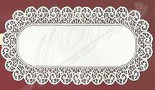 """Bianco, Pizzo, TAVOLO OVALE canale di alimentazione NUOVO (60 cm x 120 cm) (23,5 """"X 47""""), elegante regalo"""