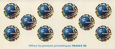 """TIMBRE FRANCE 1998 carnet BC3140 """"France 98"""" non plié"""