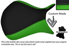 LIGHT GREEN & BLACK CUSTOM 07-08 FITS KAWASAKI NINJA ZX6R FRONT SEAT COVER