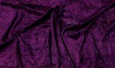 Aubergine Crushed velvet/velour fabric/Material