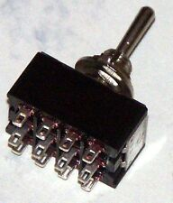Miniature 4Pdt C/Off Toggle Switch On-Off-On # M403