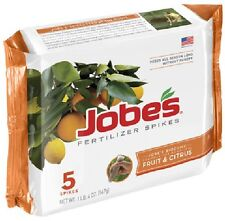 (6) JOBES 5 PACK FRUIT TREE FERTILIZER SPIKES NUT AND CITRUS TREES SPIKE 01002