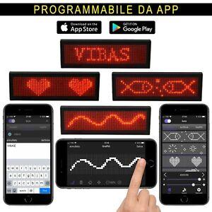 Badge a Led Programmabile da App (ios e Android), Testo e Grafica, Ricaricabile