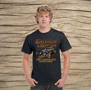 Outlaw Racing Rat Rod Black Gildan T-shirt Cool New Licensed design