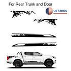 2x Black Car Side Body Decal Sticker Vinyl Film Decor Waterproof For Pickup Suv