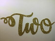 Second Birthday number Two glitter cake topper, toothpick number, up to 15cm