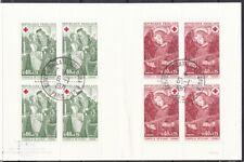 Frankreich 1970 gestempelt MiNr. 1733-1734 I im Markenheft  Rotes Kreuz